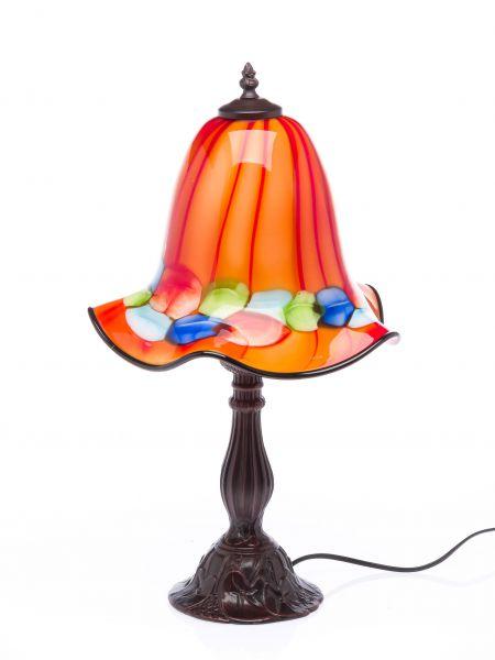 Tischlampe Lampe Glas Glasschirm im Murano Stil 53 cm glass table lamp orange