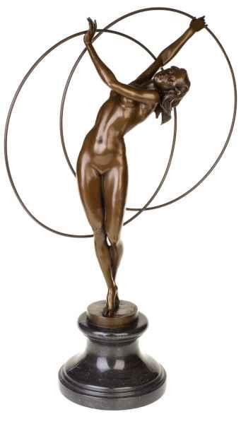 Bronzeskulptur erotische Kunst Reif Erotik Antik-Stil Bronze Figur Statue - 66cm