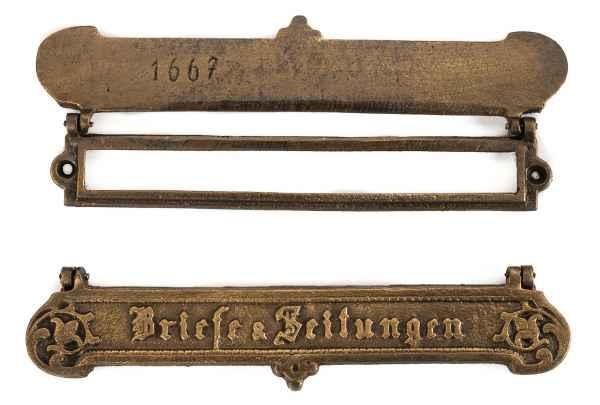 Briefkastenschlitz Briefkastenklappe Briefkasten Klappe Schlitz antik stil Eisen