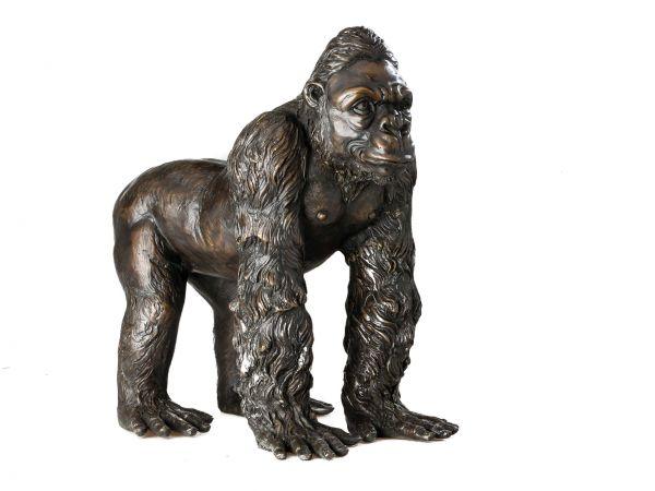 Bronze Gorilla Affe 37cm Bronzeskulptur Bronze Figur Skulptur Figur antik Stil
