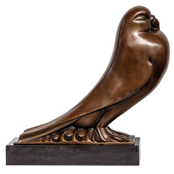 Bronzeskulptur Taube Vogel Antik-Stil Bronze Figur Skulptur Statue 33cm
