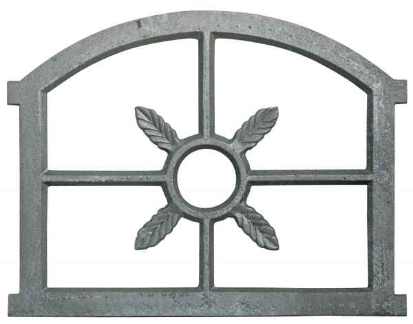 Fenster grau Stallfenster Eisenfenster Scheunenfenster Eisen 53cm Antik-Stil (p)