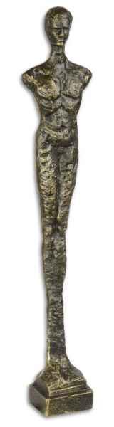Skulptur Eisenfigur stehender Mann Figur Statue Skulptur Antik-Stil 43cm