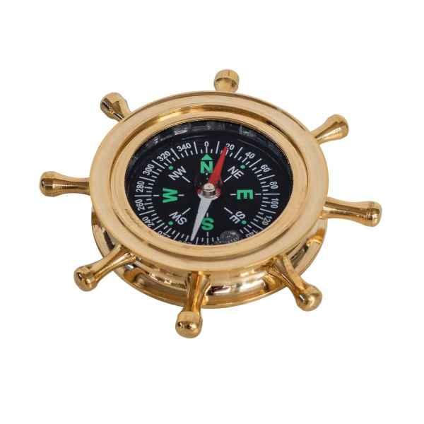Kompass Steuerrad Maritim Dekoration Navigation Messing Antik-Stil