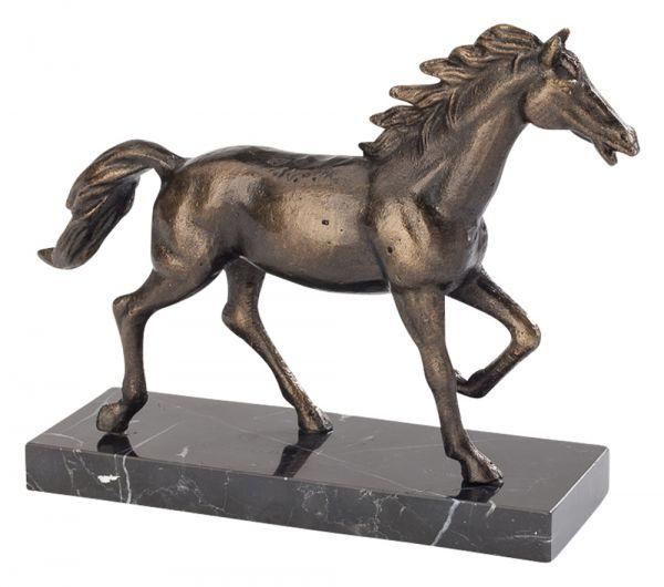 Skulptur Pferd 24cm Schreibtisch Statue Eisen Figur antik Stil horse iron