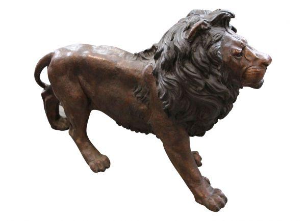 Bronzeskulptur Löwe Breite 150cm Skulptur Bronze Figur Lion im Antik-Stil