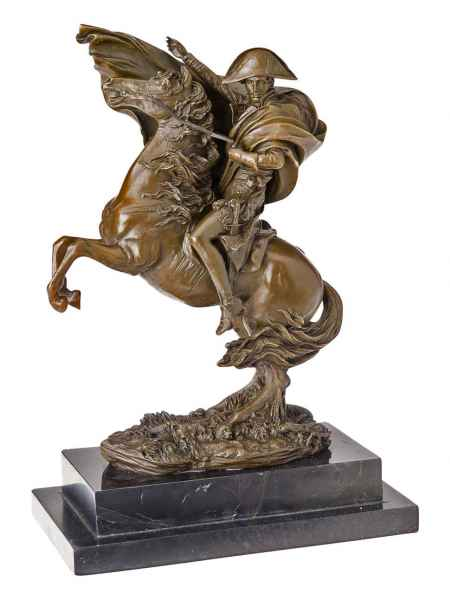 Bronze Napoleon mit Pferd Marengo Bronzeskulptur Bronzefigur Skulptur antik Stil