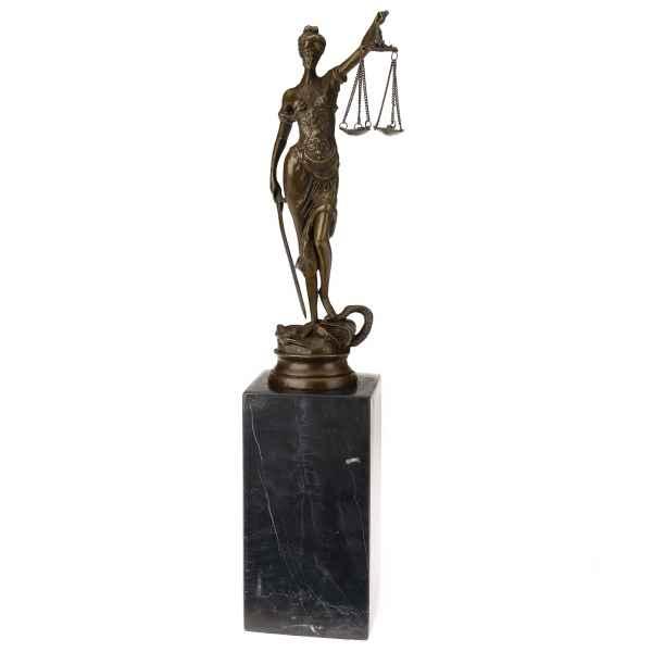 Bronzeskulptur Justitia Justizia Bronze Figur Skulptur im Antik-Stil - 34cm
