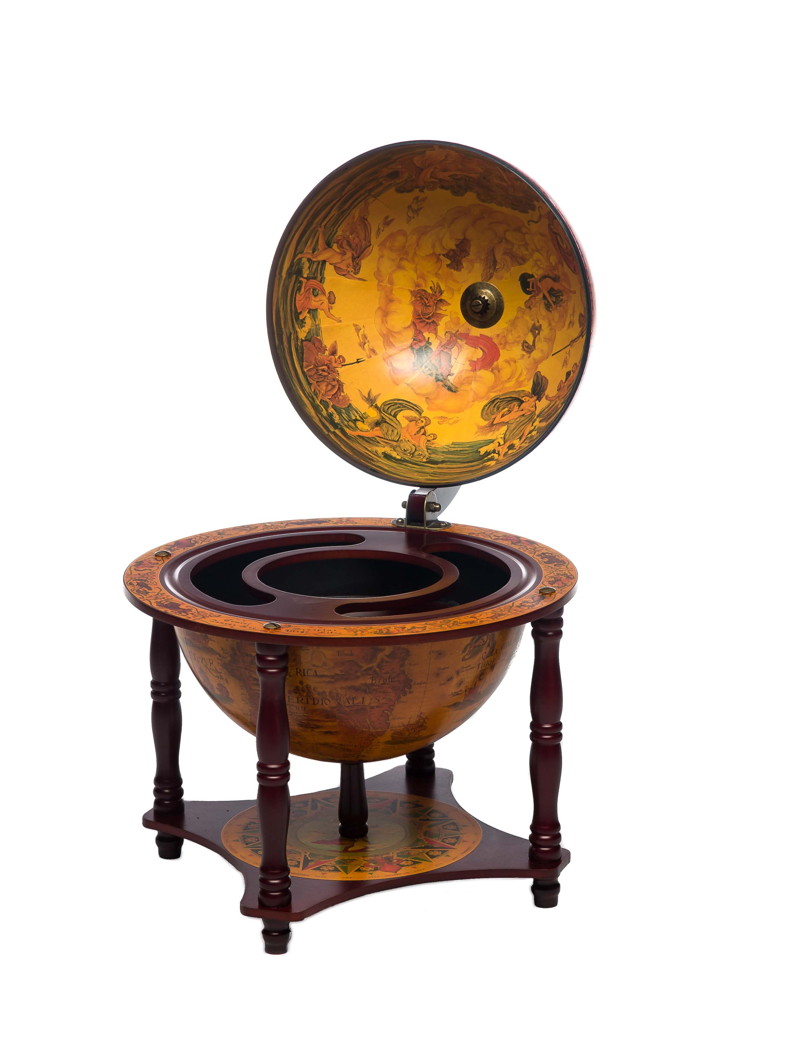 globusbar globus bar hausbar minibar servierwagen weltkugel globe bar aubaho. Black Bedroom Furniture Sets. Home Design Ideas