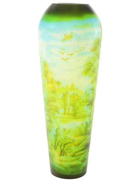 Vase Replika nach Galle Gallé Glasvase Glas Antik-Jugendstil-Stil Kopie c9