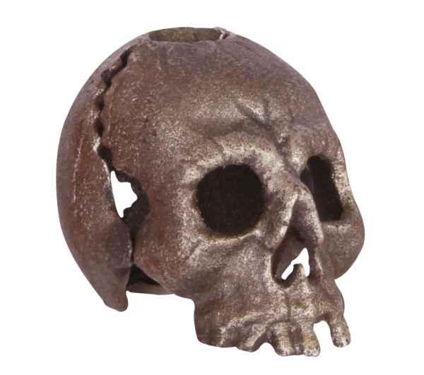 Kerzenständer Totenkopf Kerzenhalter Figur Skulptur Eisen Antik-Stil 11cm