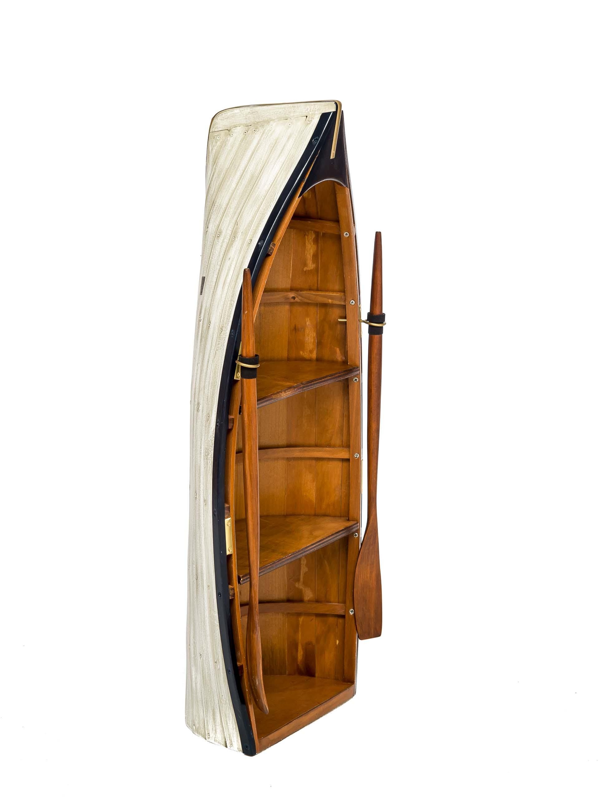 Boat Wall Shelf Replica Rowboat Shape Wood 2 11 5