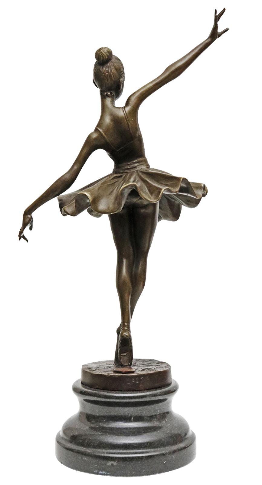 Bronzeskulptur Tänzerin Ballerina nach Degas Ballet Bronze Figur Replika a Antyki i Sztuka