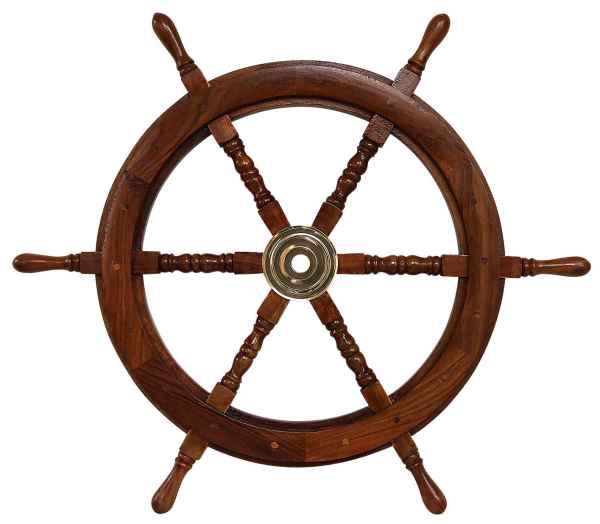 Schiffssteuerrad Schiffsrad Steuerrad Schiff Schiffe Boot 76cm Holz Antik-Stil