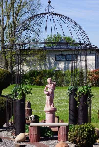 Eisenpavillion Pavillion Eisen Gartenpavillon Garten Höhe 380cm Gazebo Orangerie