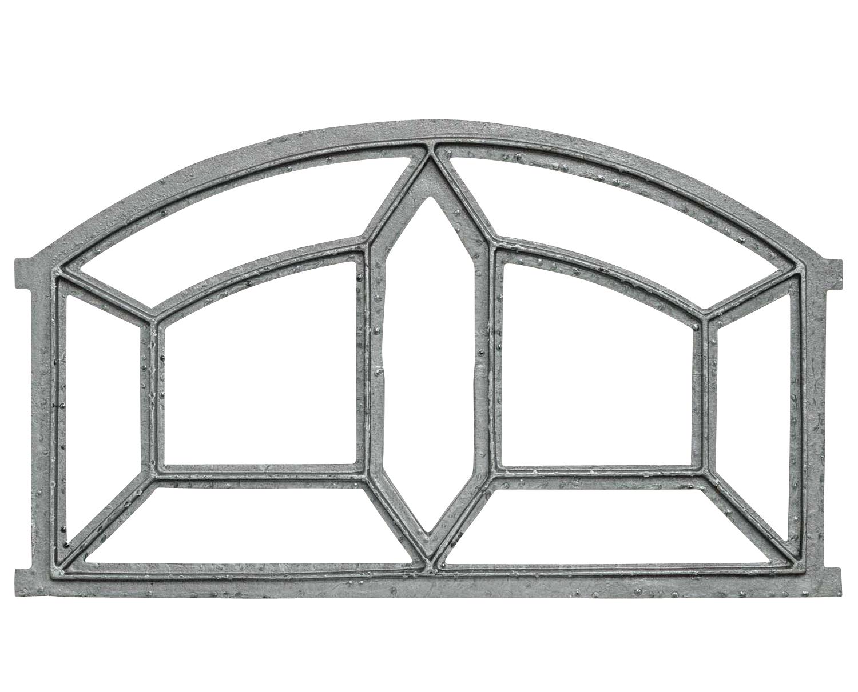 Fenster grau Stallfenster Eisenfenster Scheunenfenster Eisen 49cm Antik-Stil k