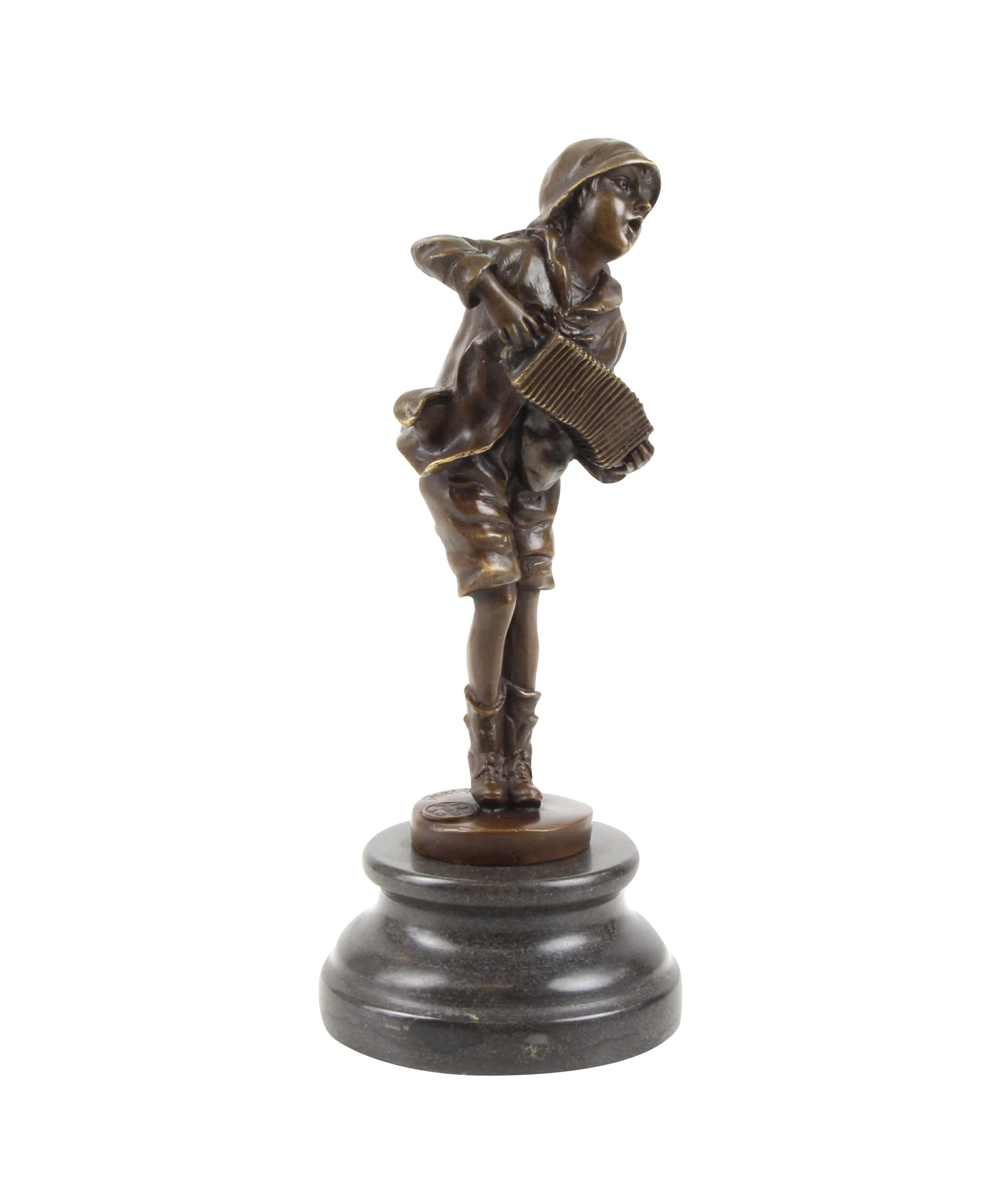 bronzeskulptur bronze figur ziehharmonika nach chiparus antik stil replik aubaho. Black Bedroom Furniture Sets. Home Design Ideas
