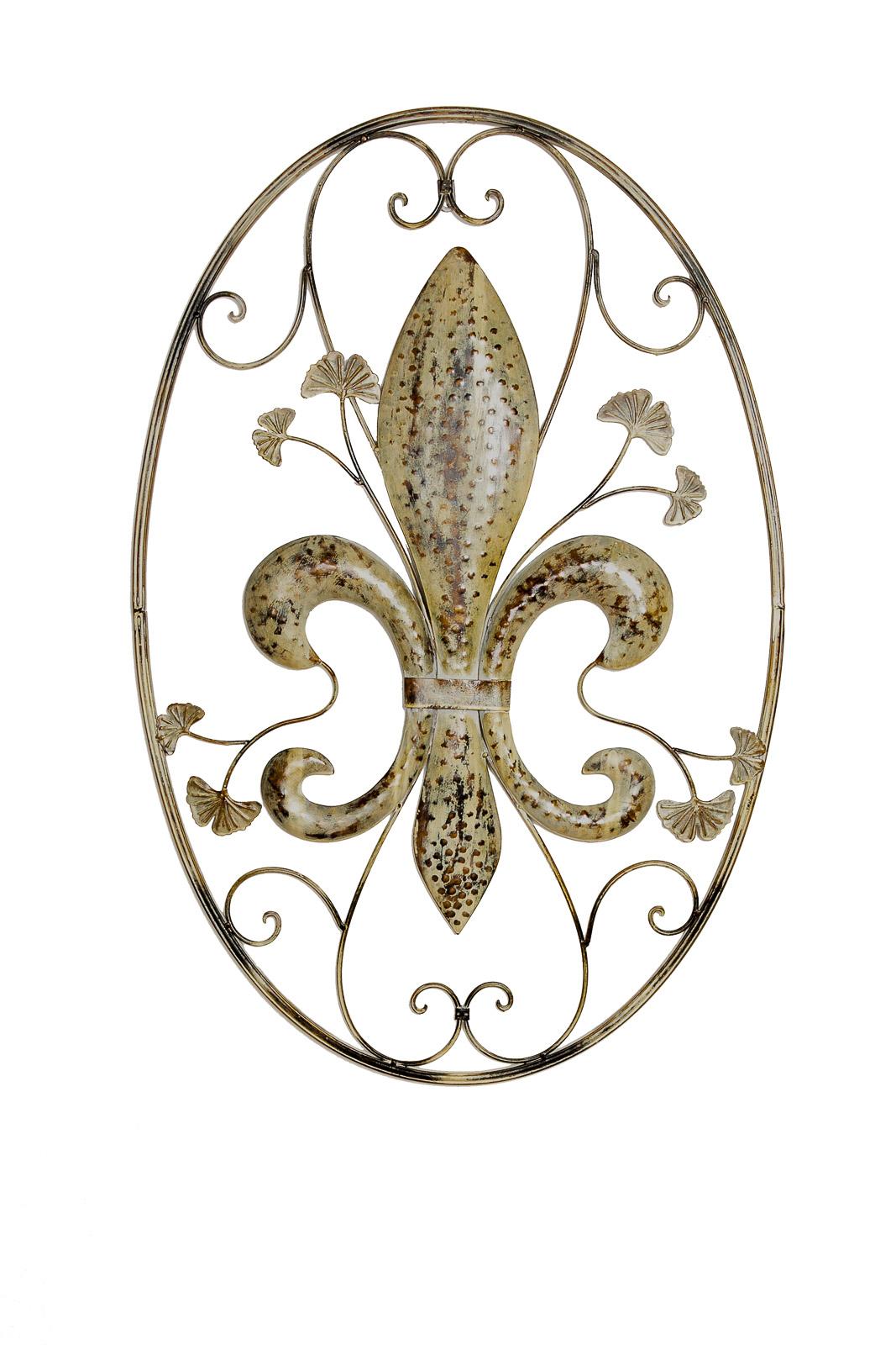Wanddekoration lilie fenster 82cm metall deko garten terrasse wall decoration aubaho - Wanddekoration metall ...