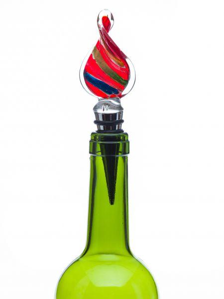 Flaschenverschluss Glasverschluss Glaskorken Tropfen Murano Stil bottle stopper