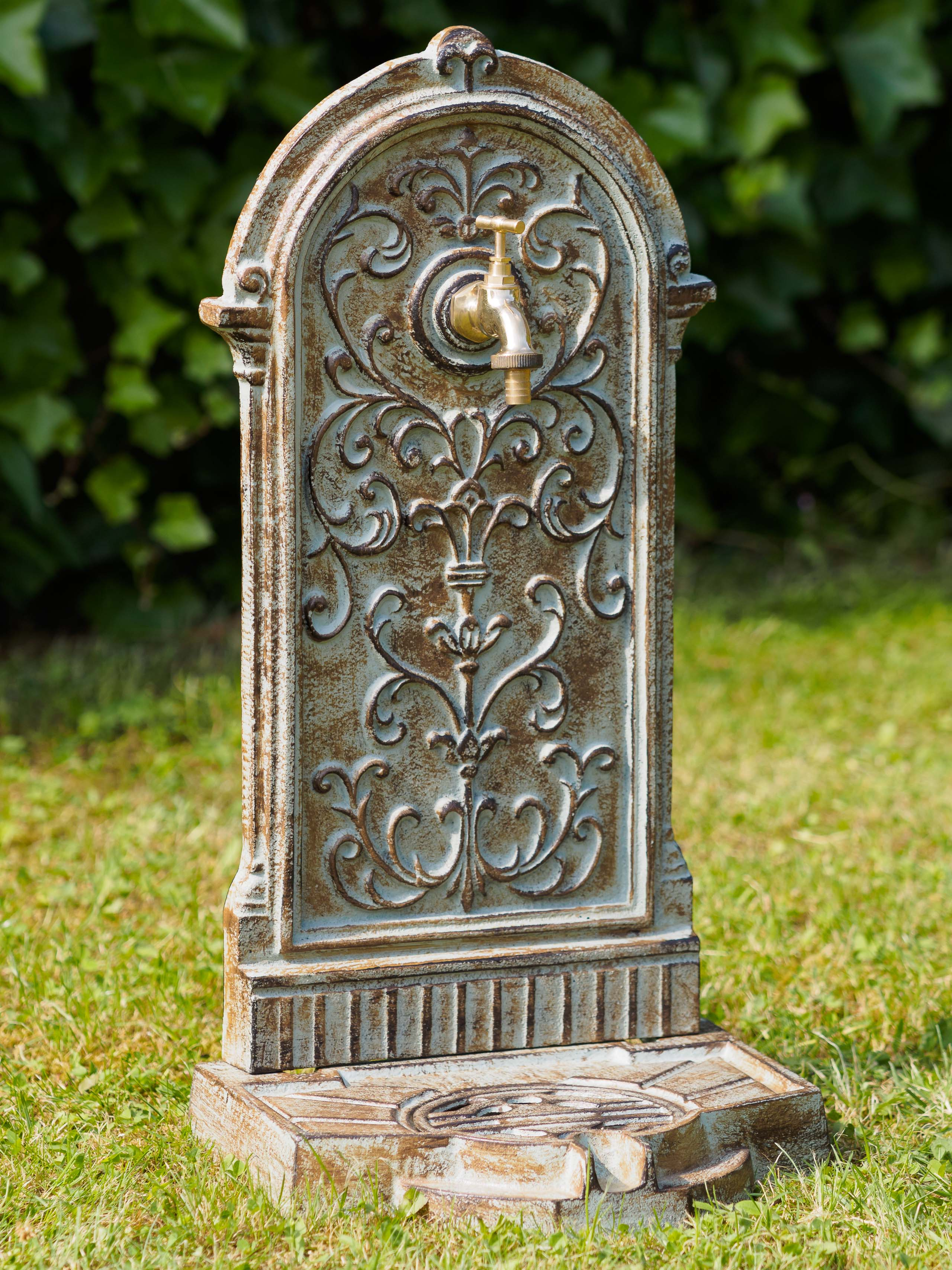 STAND Fontana 64cm 11kg lavandini pozzi FERRO VERDE MURO FONTANA antico Style