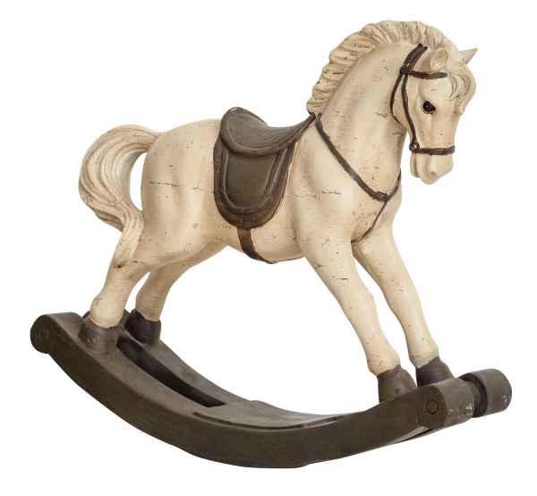 Schaukelpferd 38cm Skulptur Pferd Figur Dekoration Antik-Stil