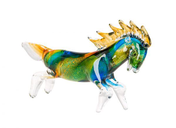 Glas Pferd Hengst im Murano Stil 35cm Glasfigur Skulptur glass figure horse