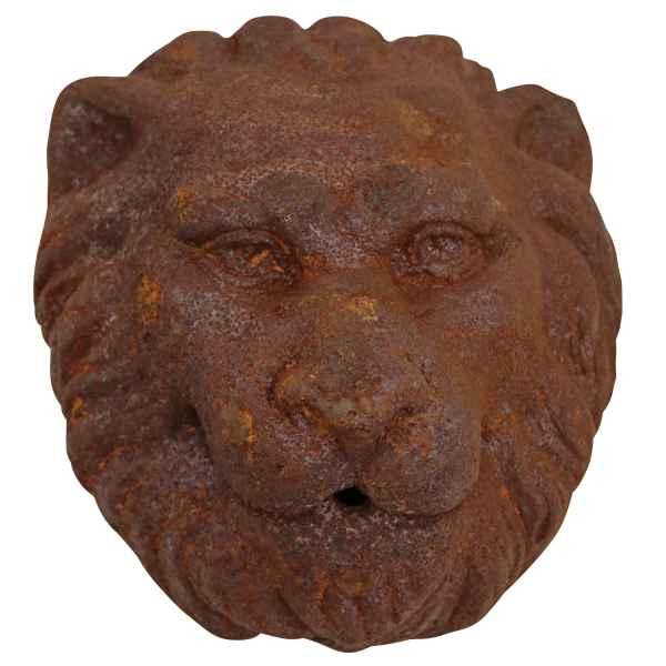 Löwenkopf Löwe Dekoration Eisen Wandbrunnen Wasserspeier Skulptur Figur f