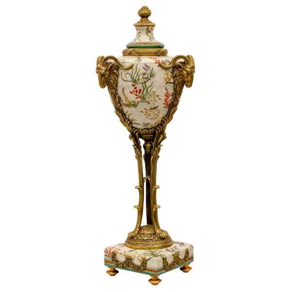 Porzellan Standgefäß Gefäß Porzellan Blume Ziegenbock Antik-Stil 53cm