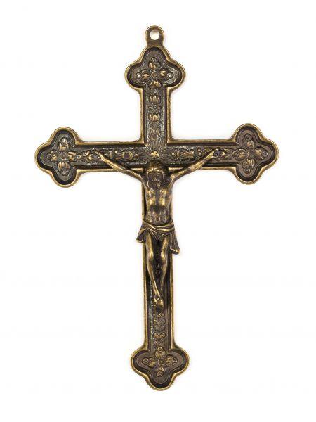 Kruzifix im Nostalgie anitk Stil Kreuz Eisen 28cm Eisen Deko iron cross