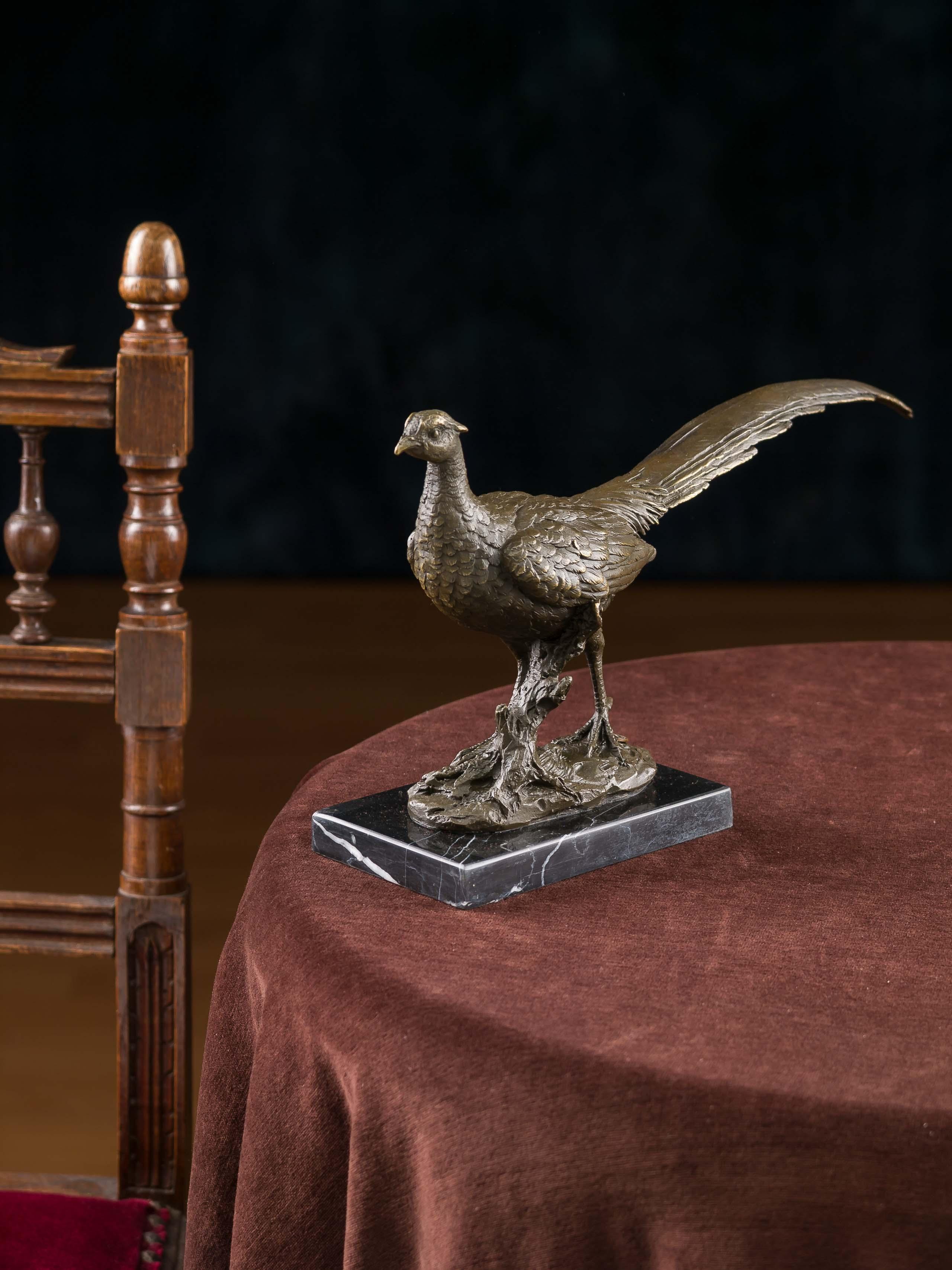 Bronze Fasan Rebhuhn Bronzeskulptur Bronzefigur Skulptur Figur Antik-Stil