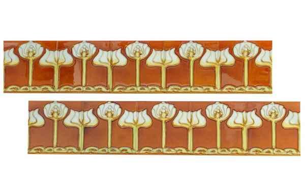 10x fliese handbemalt kachel replika antik stil jugendstil set q aubaho. Black Bedroom Furniture Sets. Home Design Ideas