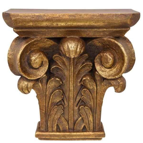 Konsole Ablage Regal Wandregal Wandkonsole Goldfarben Antik-Stil 42cm