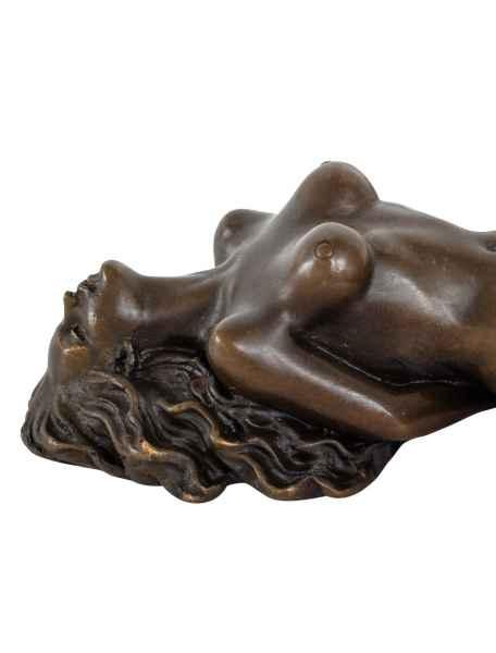 Bronzeskulptur Erotik erotische Kunst Akt Bronze Figur Statue Antik-Stil 21cm