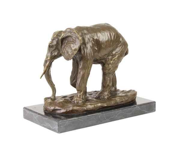 Bronzeskulptur Elefant im Antik-Stil Bronze Figur Statue 29cm