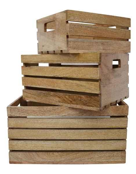 3x holz kiste allzweckkiste obstkiste box antik stil aubaho. Black Bedroom Furniture Sets. Home Design Ideas