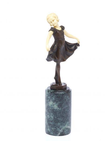 Bronze Skulptur nach Ferdinand Preiss Tänzerin Ballett sculpture art deco style