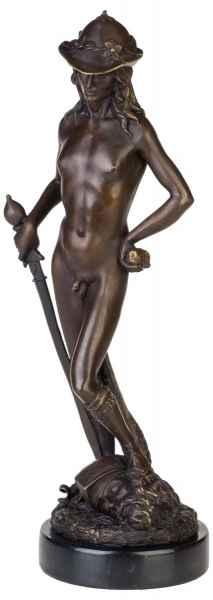Bronzeskulptur David im Antik-Stil Bronze Figur Statue 45cm