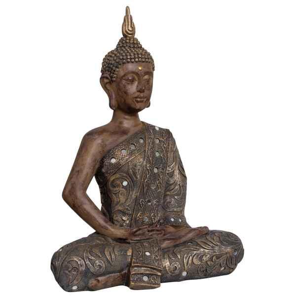 Buddha Meditation Feng Shui Figur Skulptur Asien Dekoration Antik-Stil - 50cm