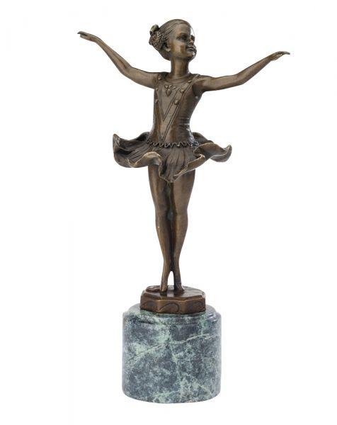 Statuetta stile ferdinand preiss ballerina danzatrice art deco