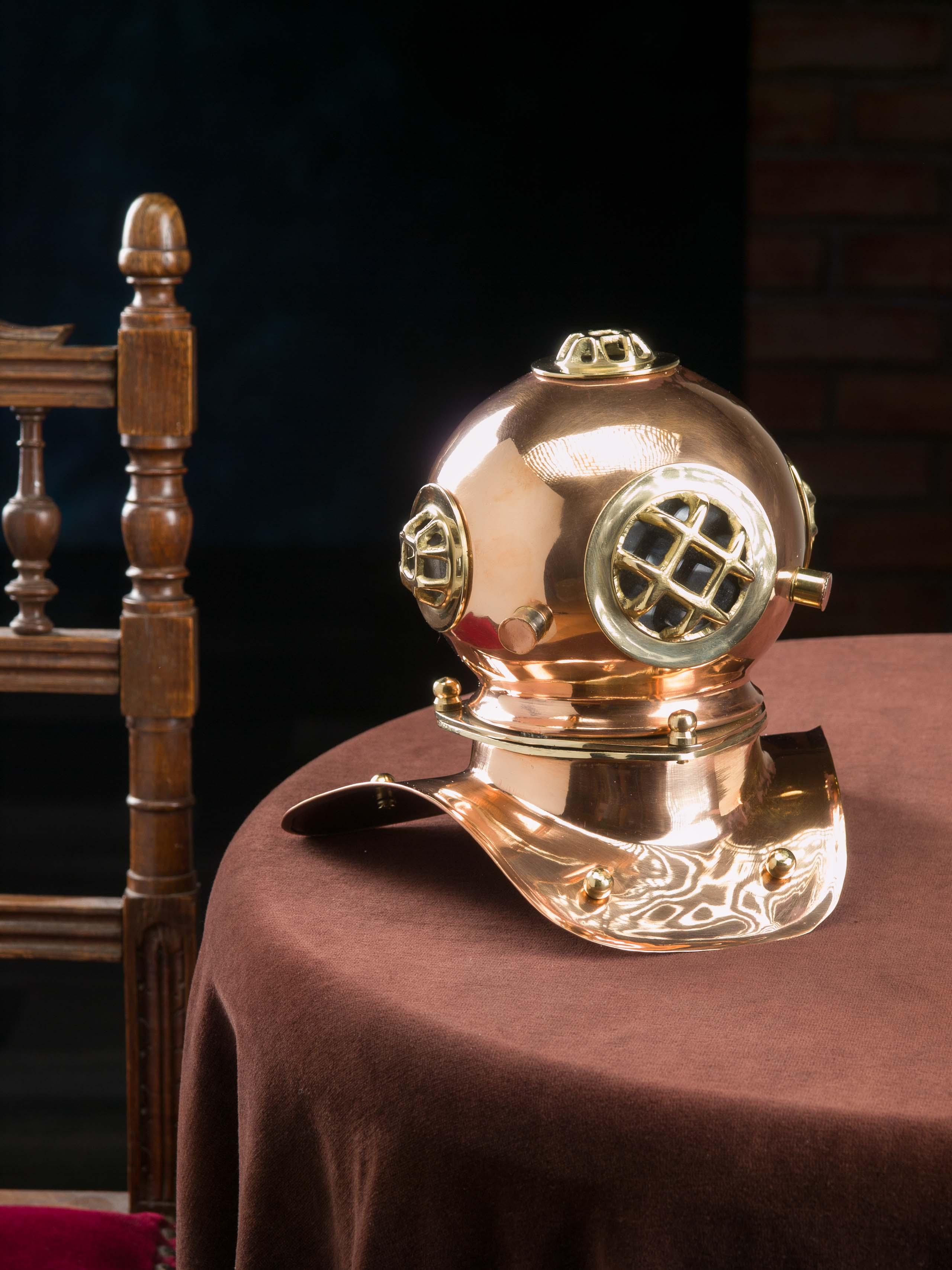 Taucherhelm Kupfer 20cm Maritim Taucherglocke Helm Antik-Stil