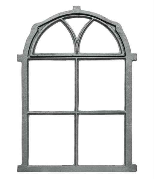Stallfenster Fenster Scheunenfenster Eisen grau 63 x 34cm Antik-Stil