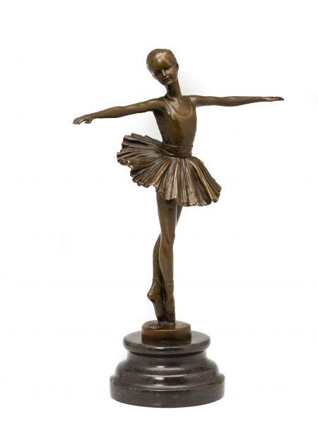 Bronzeskulptur Tänzerin Ballerina Bronzefigur Bronze Skulptur Ballett sculpture