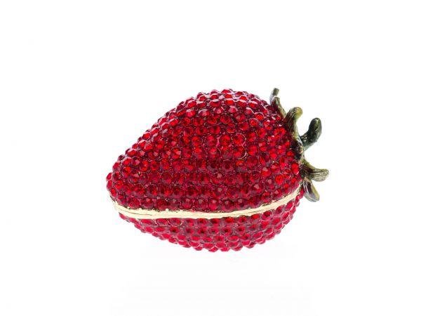 Pillendose in Form einer Erdbeere Schmuckdose Pillenbox Box Dose Pille Schmuck