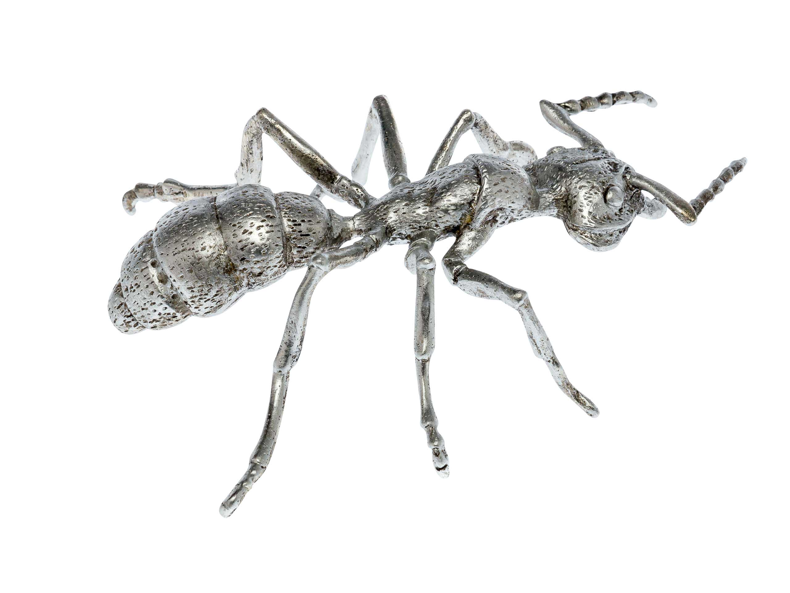 Pewter figurine in the form of an ant silver insect tin sculpture ant
