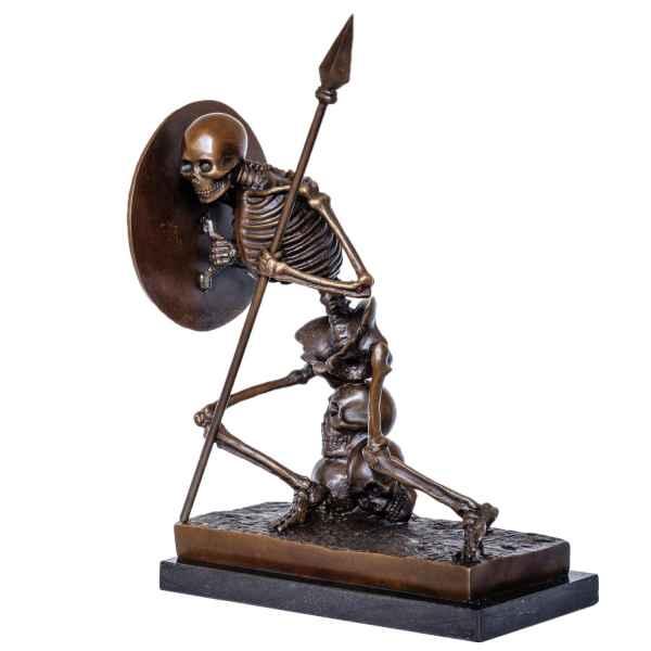 Bronzeskulptur Skelett Buchstütze im Antik-Stil Bronze Figur 37cm