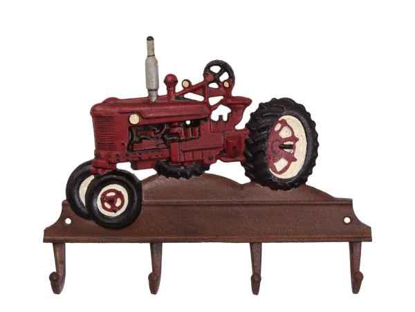 Kleiderhaken Traktor Fahrzeug Eisen Antik-Stil 35cm (c)