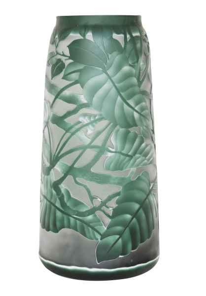 Vase Replika nach Galle Gallé Glasvase Glas Antik-Jugendstil-Stil Kopie f