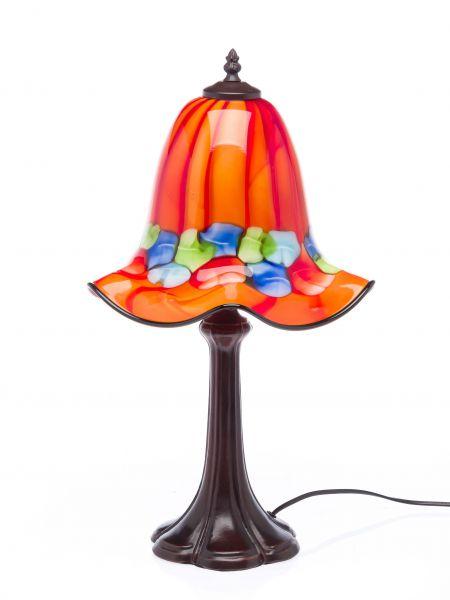 Tischlampe Lampe Glas orange Glasschirm im Murano Stil 53cm glass table lamp