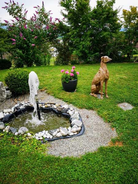 Herzlichen Dank für das wunderschöne Foto mit unserem Windhund aus Ihrem Garten. ❤️ Wir haben uns sehr darüber gefreut.