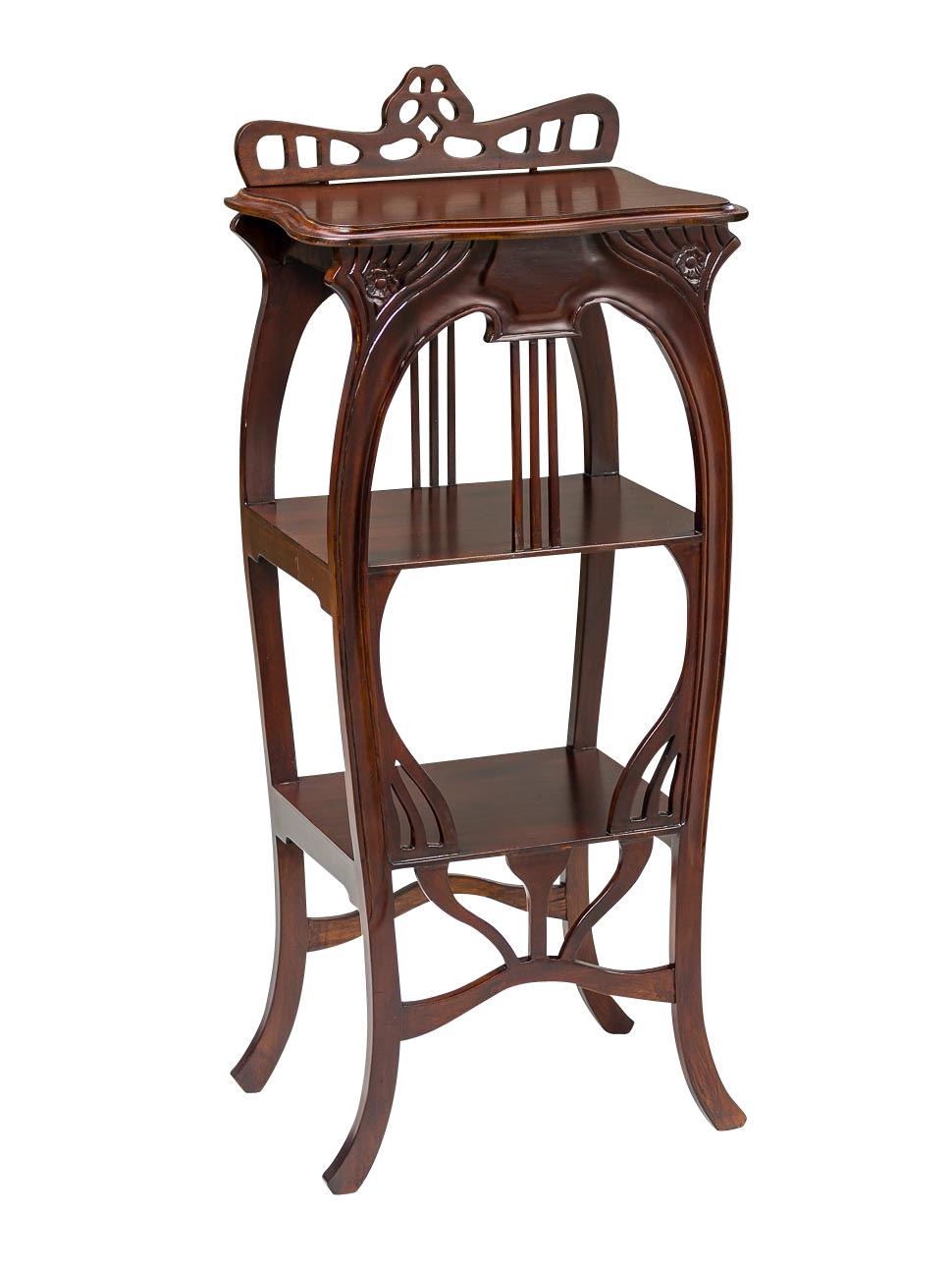 beistelltisch telefontisch regal bartisch tisch barregal holz antik stil aubaho. Black Bedroom Furniture Sets. Home Design Ideas